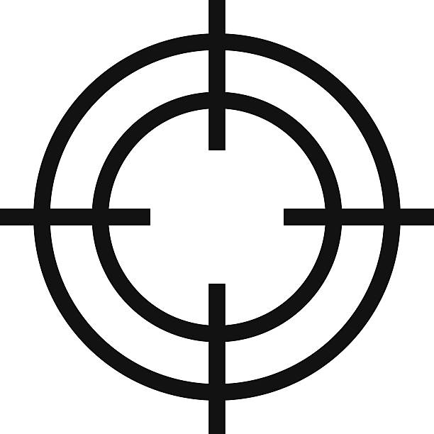 stockillustraties, clipart, cartoons en iconen met crosshair icon - gun shooting