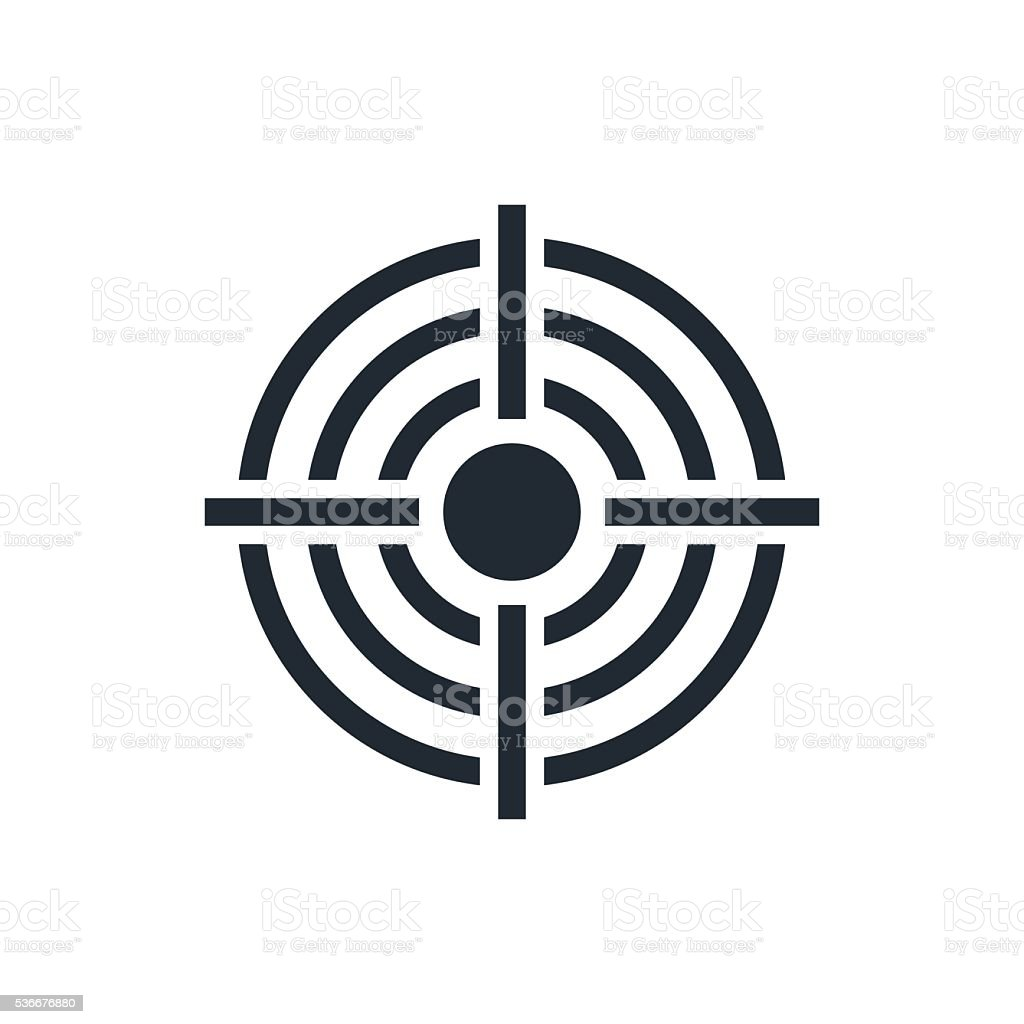crosshair icon vector art illustration