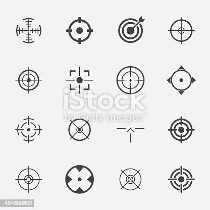 crosshairs icon set.