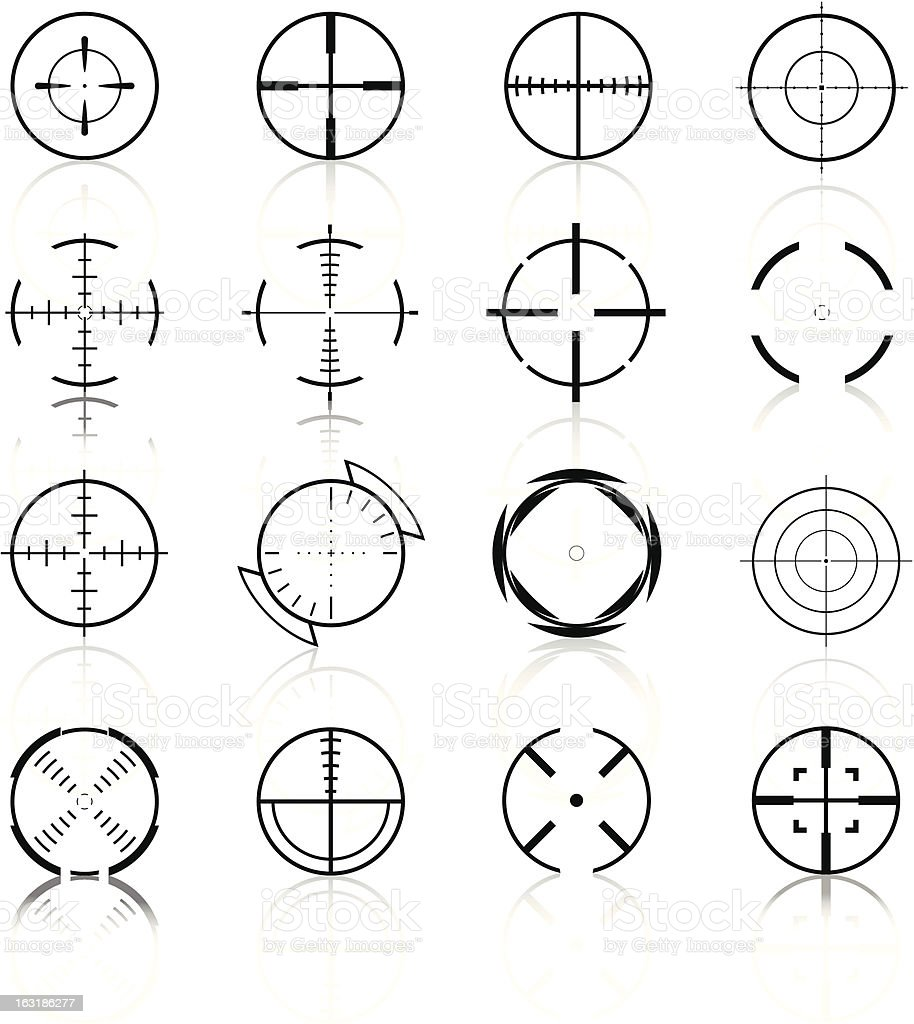 Crosshairs Set3 - Black Series royalty-free stock vector art