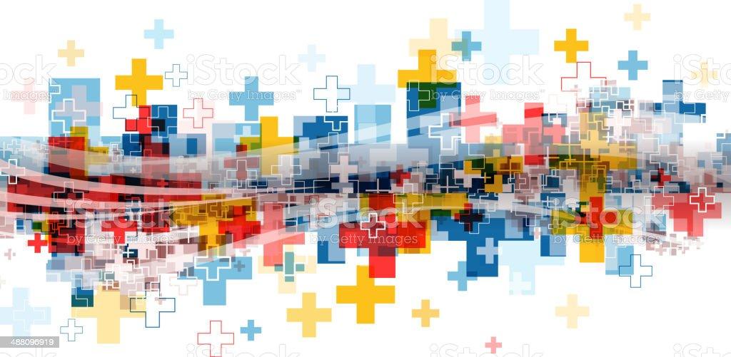 crossing backdrop vector art illustration