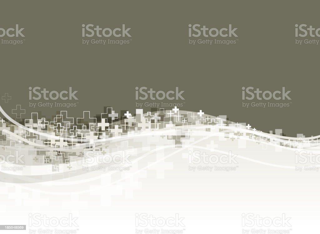 crossing backround vector art illustration