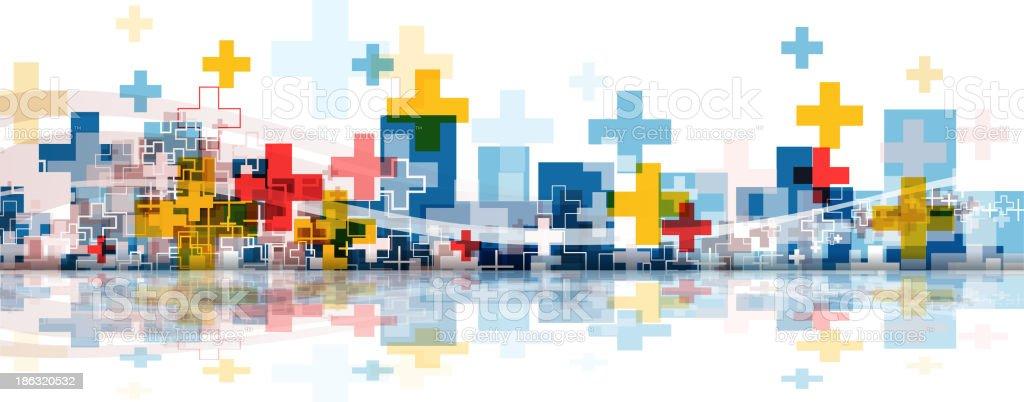 crossing city vector art illustration