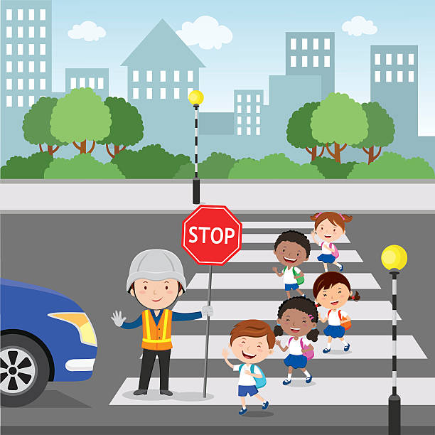 crossing the road - crossing stock illustrations, clip art, cartoons, & icons