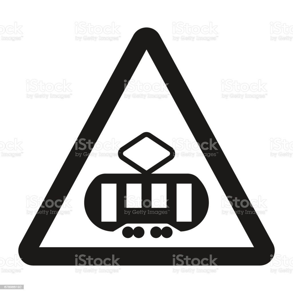 Croisement avec une icône de ligne tram signe croisement avec une icône de ligne tram signe – cliparts vectoriels et plus d'images de azerbaïdjan libre de droits
