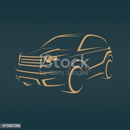 crossover, offroader car sketch