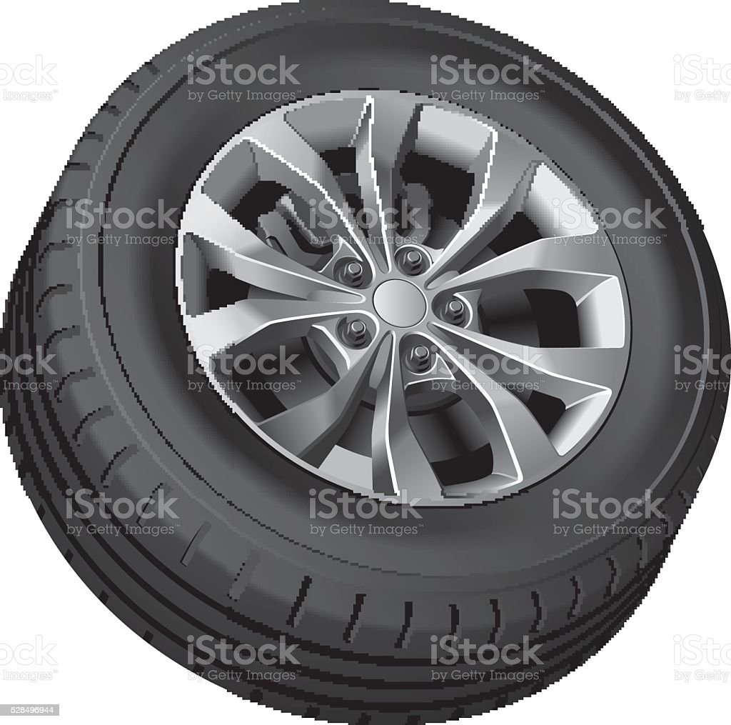 Crossover wheel vector art illustration