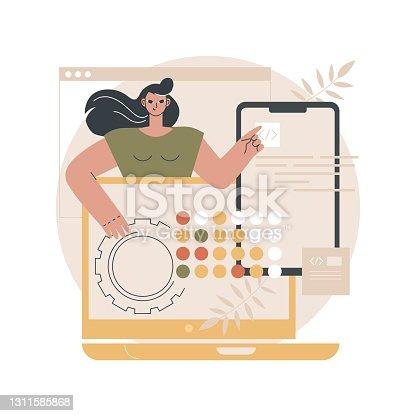 istock Cross-platform development abstract concept vector illustration. 1311585868