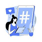 Cross-posting abstract concept vector illustration. Digital marketing, online platform, post planner, social media cross posting, link sharing, smm, repost, post promotion abstract metaphor.