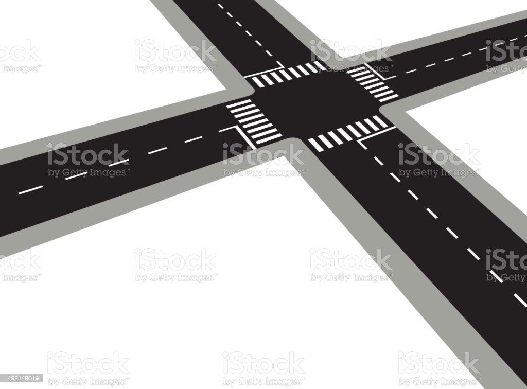 Crossroad vector art illustration