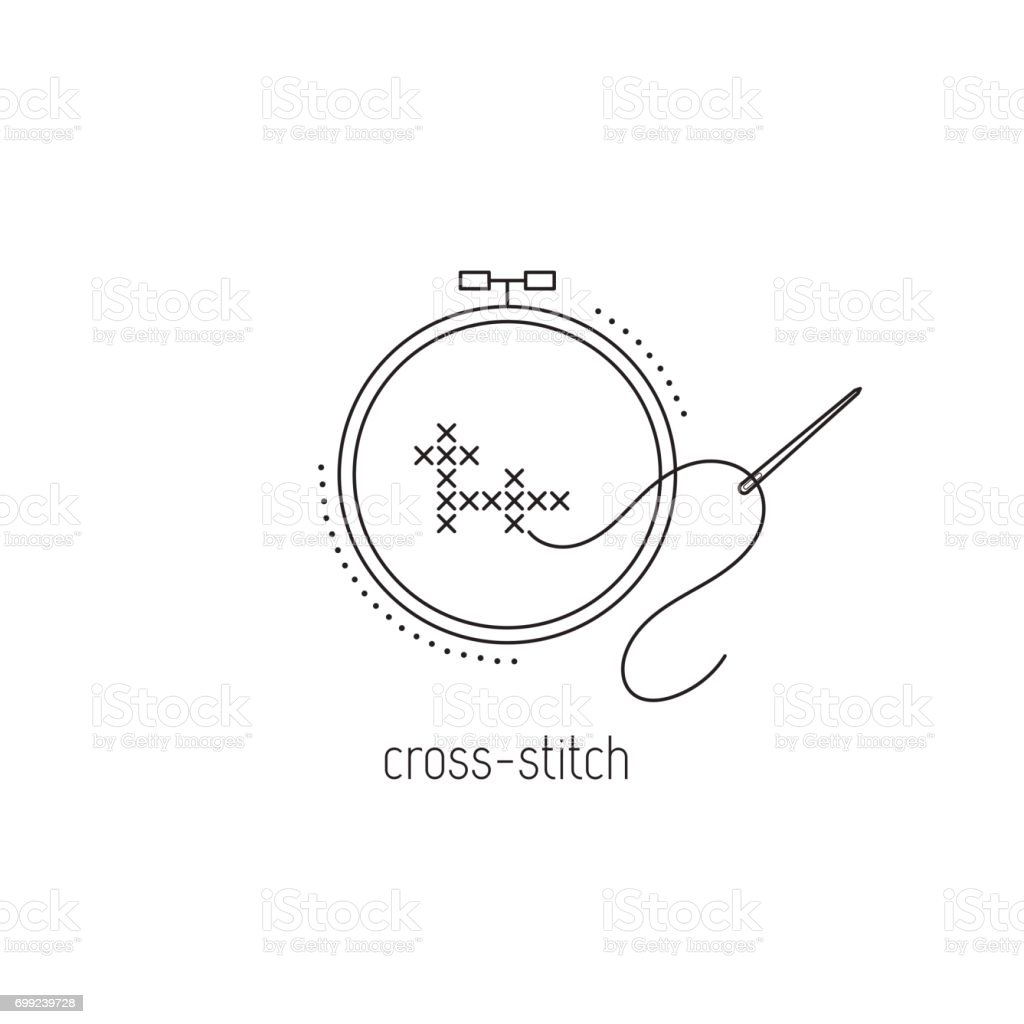 Needle Stitching Vector