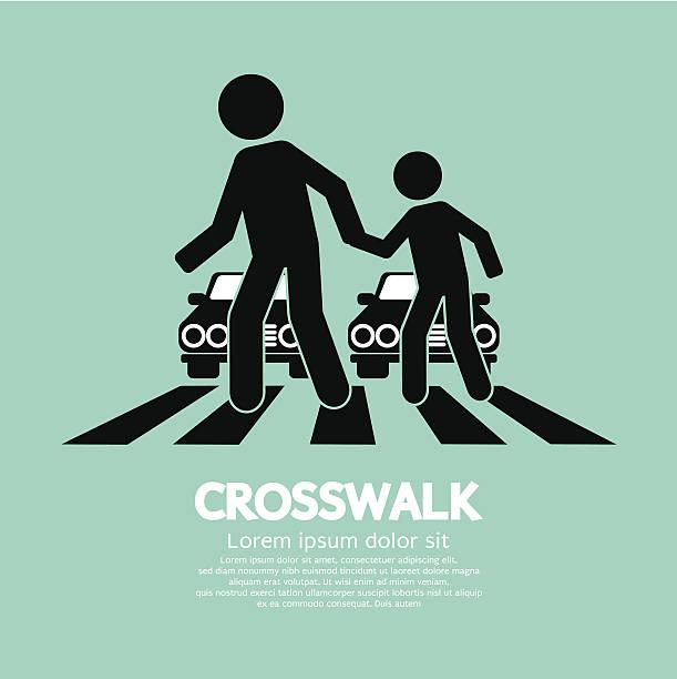 crosswalk graphic sign - crossing stock illustrations, clip art, cartoons, & icons