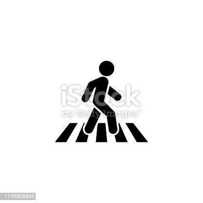 Crosswalk icon symbol logo template. Vector