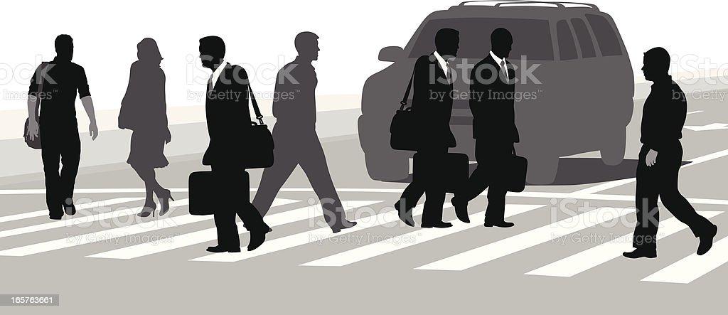 Crosswalk Talk Vector Silhouette royalty-free stock vector art