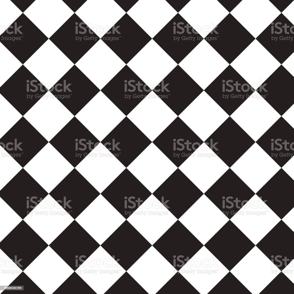 quer dazu schwarze Quadrate Muster Hintergrund – Vektorgrafik