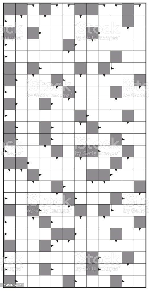 kreuzwortrtsel leere crossword puzzle muster hochformat vorlage keine worte fr eine klare - Puzzle Muster