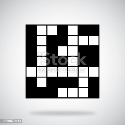 Vector illustration of a crossword puzzle against a grey background.