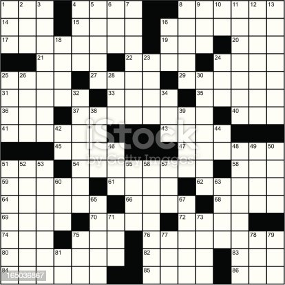 A perfect re-creation of a semi-large scale crossword puzzle.
