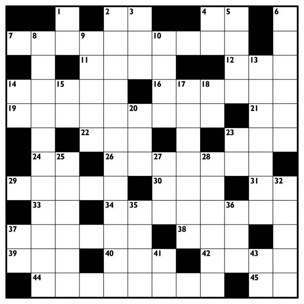 Royalty Free Crossword Puzzle Clip Art Vector Images