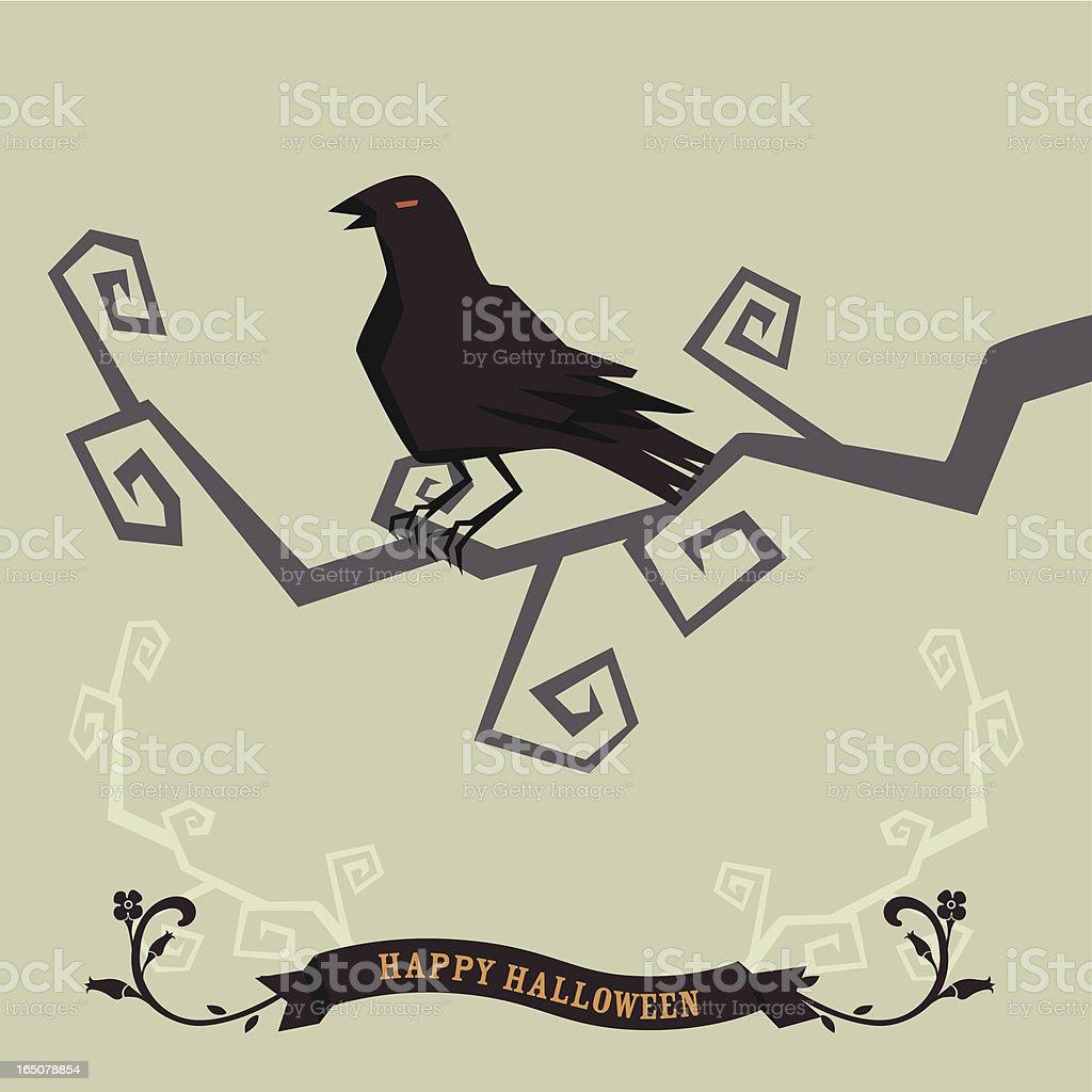 crow greetings royalty-free stock vector art
