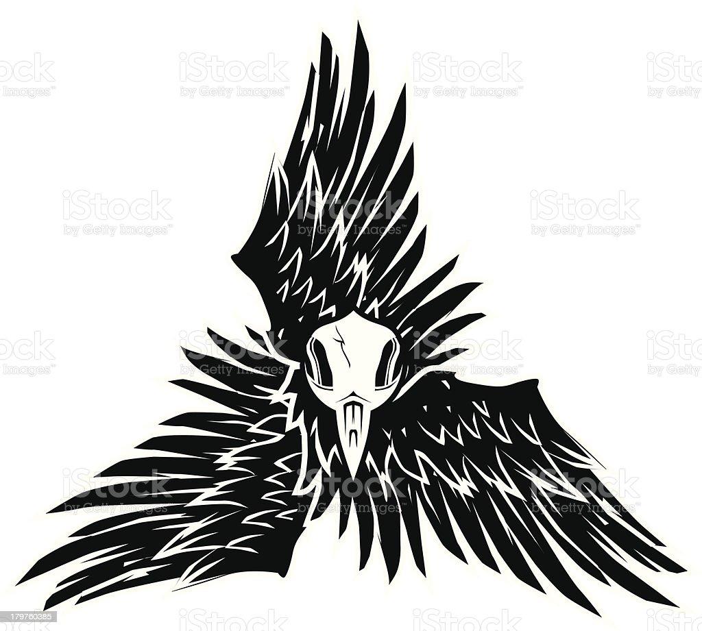 Crow Triskelion royalty-free stock vector art