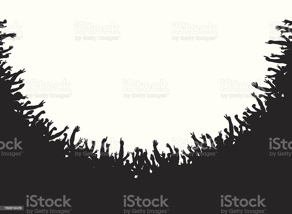 Crowd amphitheater royalty-free crowd amphitheater stock vector art & more images of black color