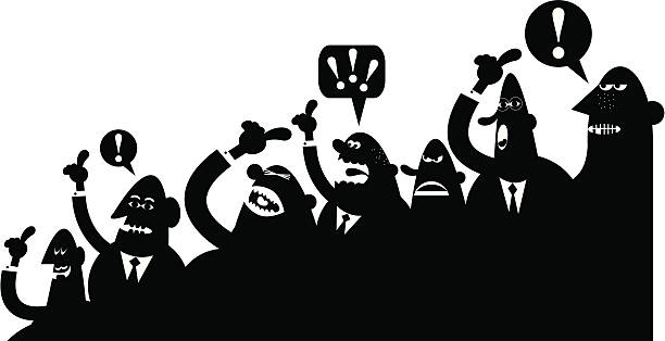 Best Angry Crowd Illustrations, Royalty-Free Vector ...