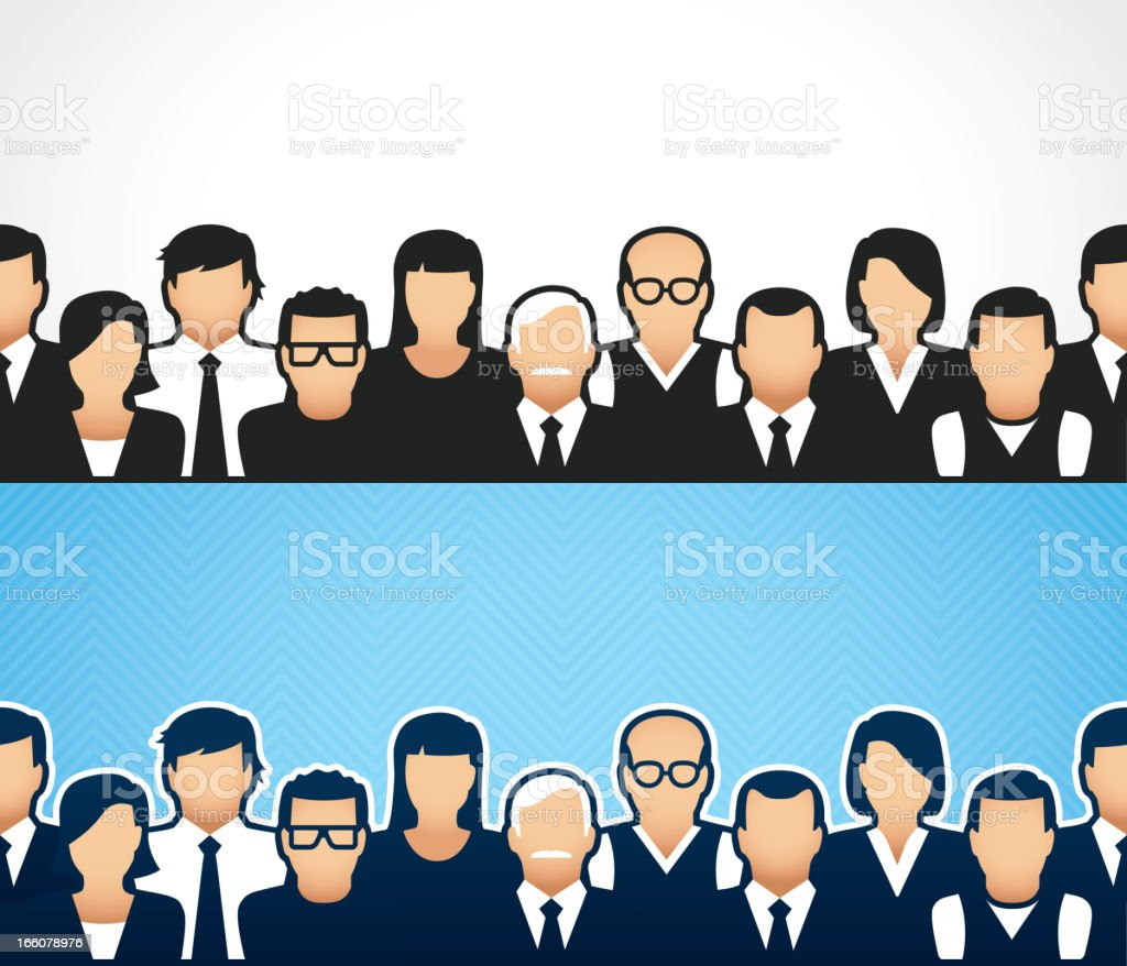 Crowd border design in white and blue royalty-free crowd border design in white and blue stock vector art & more images of audience