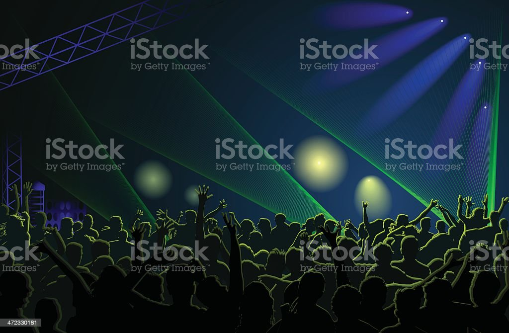 Crowd Concert royalty-free stock vector art
