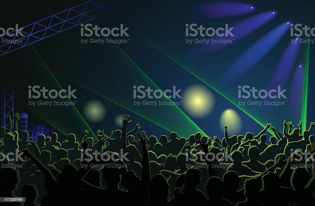 Crowd Concert vector art illustration