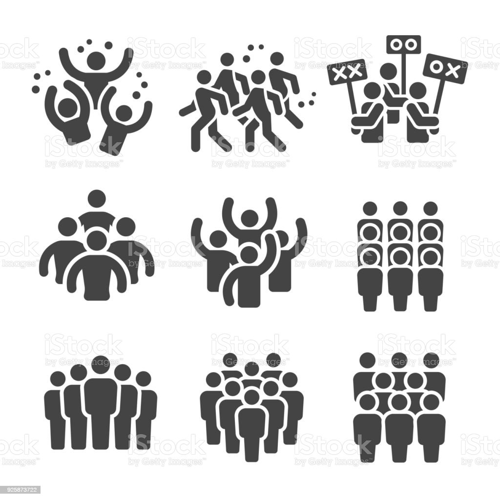 crowd icon vector art illustration