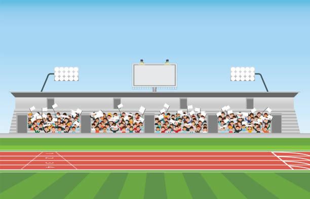 スポーツの応援にスタジアム スタンドを観客します。 - スタジアム点のイラスト素材/クリップアート素材/マンガ素材/アイコン素材