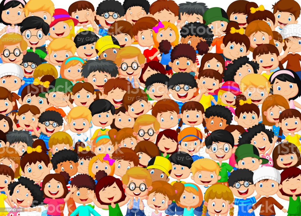 Crowd Of Children Cartoon Stock Vector Art & More Images ...