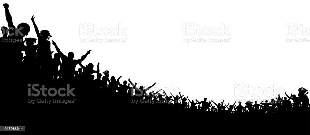 Menge von Menschen applaudierten. Sport-Fans. Fans beim Konzert. Applaus-Publikum. Сheerful klatschenden Partei Lizenzfreies menge von menschen applaudierten sportfans fans beim konzert applauspublikum сheerful klatschenden partei stock vektor art und mehr bilder von aufführung