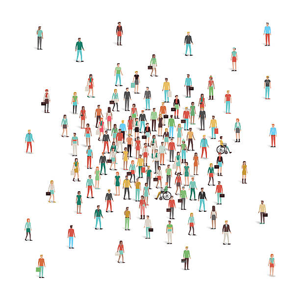ilustraciones, imágenes clip art, dibujos animados e iconos de stock de multitud de personas en el centro de reuniones - reunión evento social