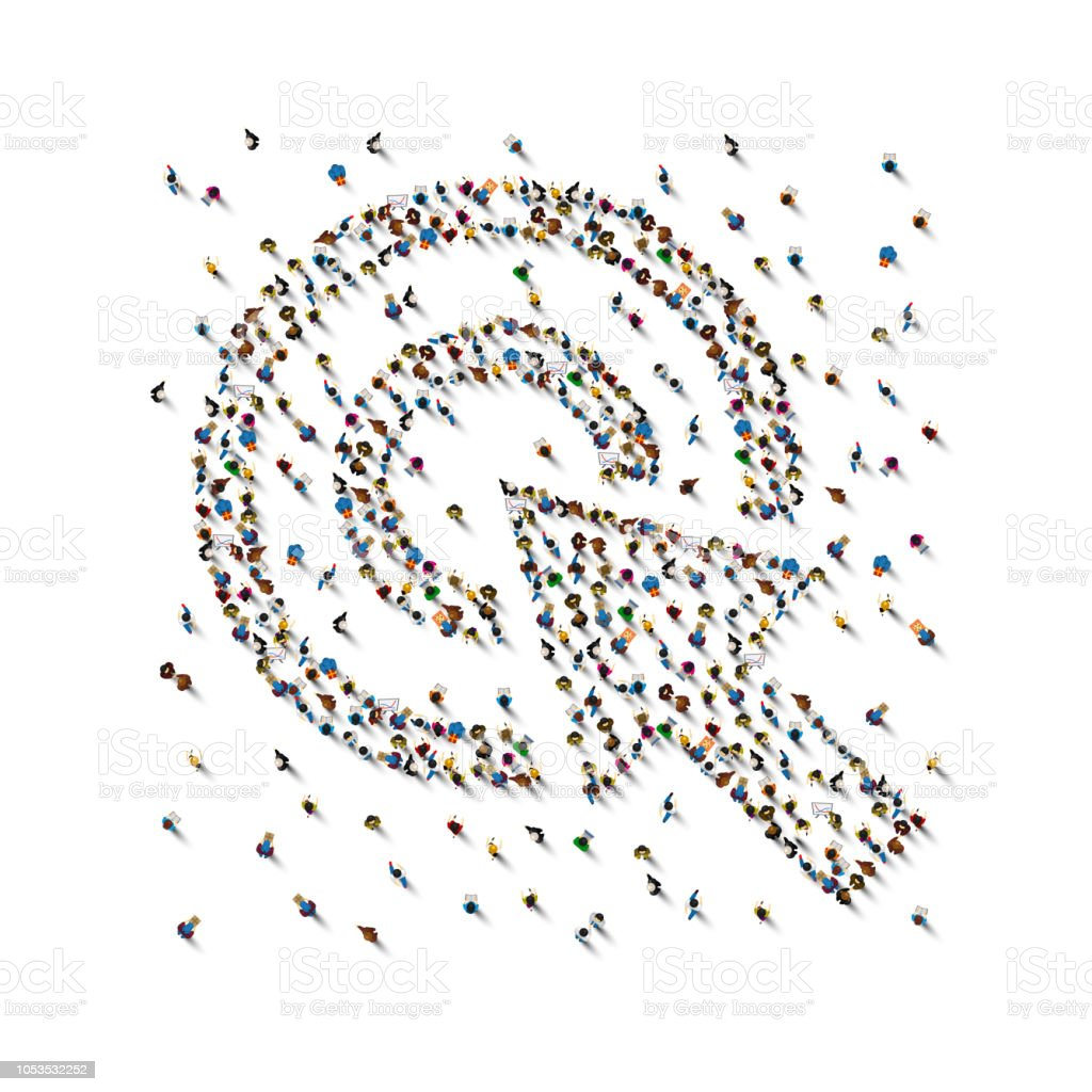 A crowd of people in the form of the cursor on white background. Vector illustration royalty-free a crowd of people in the form of the cursor on white background vector illustration stock illustration - download image now