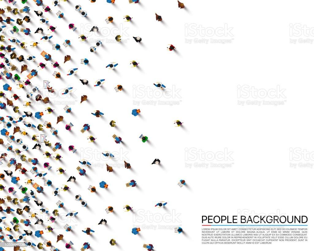 白の背景、ビジネスをカバー上の人々 の群衆。ベクトル図 - イラストレーションのロイヤリティフリーベクトルアート