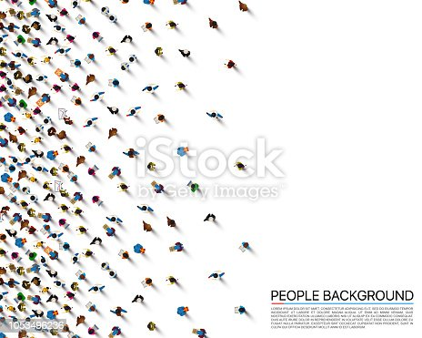 A crowd of people on a white background, Business cover. Vector illustration