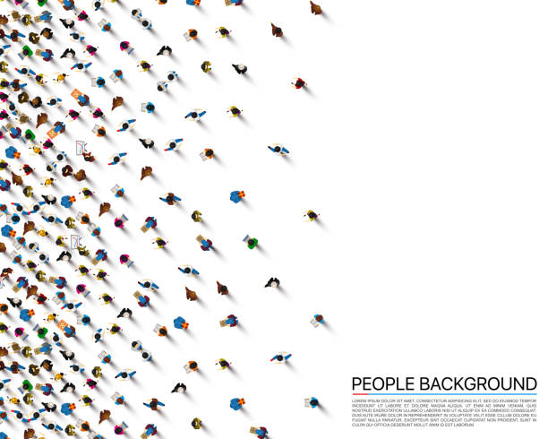 A crowd of people on a white background, Business cover. Vector illustration A crowd of people on a white background, Business cover. Vector illustration crowd of people stock illustrations