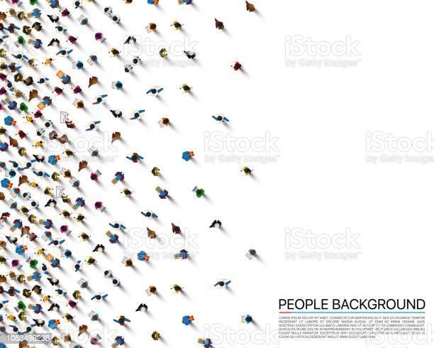 白の背景ビジネスをカバー上の人々 の群衆ベクトル図 - イラストレーションのベクターアート素材や画像を多数ご用意