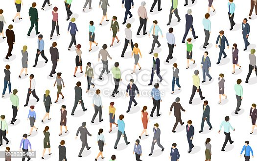 istock Crowd of People Walking 1268636486
