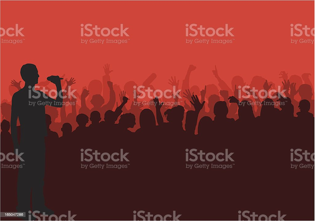 Crowd Pleaser royalty-free stock vector art