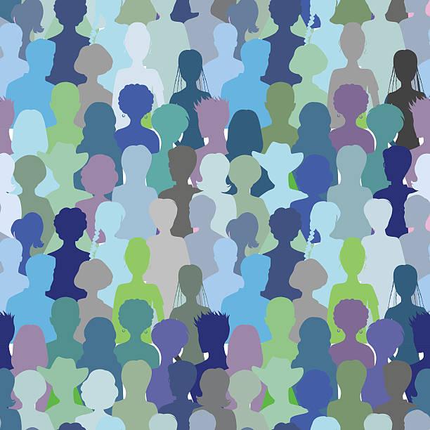 Crowd- seamless pattern, Crowd- seamless pattern,  Vector illustration. community backgrounds stock illustrations