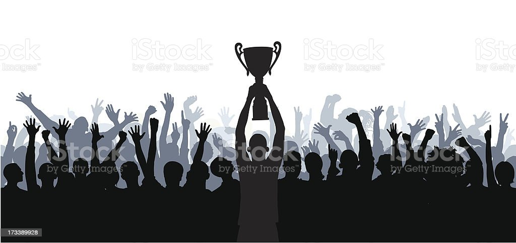 Crowd (Seventy-One Complete People- Clipping Path Hides the Legs), Seamless royalty-free stock vector art