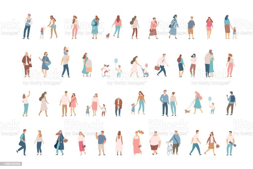 Crowd. vector art illustration