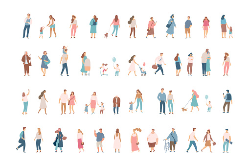 人群向量圖形及更多一起圖片