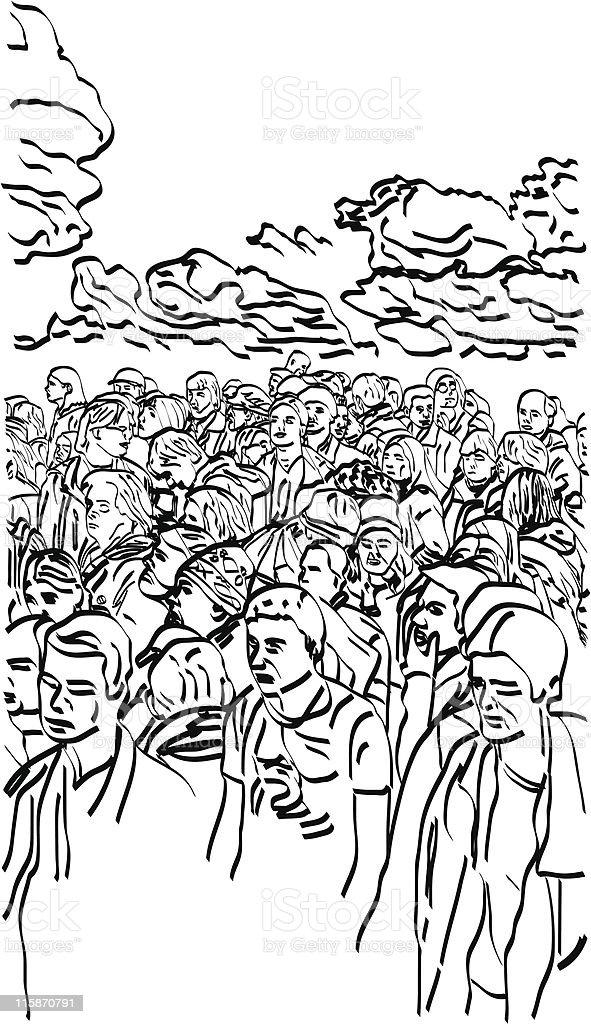 Crowd (Vector) royalty-free stock vector art