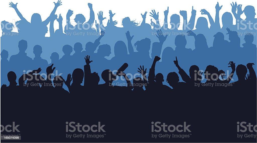 Crowd royalty-free stock vector art