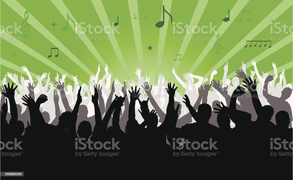 Crowd royalty-free stock vector art