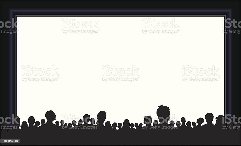 Crowd (People Are Moveable and Complete Down to the Waste) vector art illustration